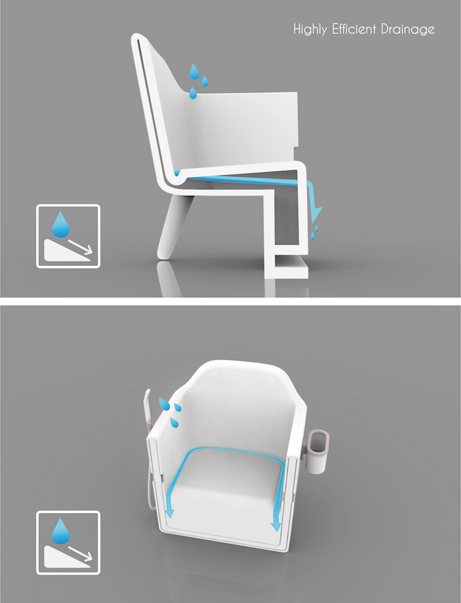after endless trials i created about four versions before deciding on the final design this bath chair is my final year project at the - Bath Chair